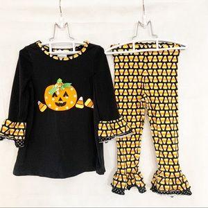BONNIE JEAN Halloween Pumpkin Matching Set